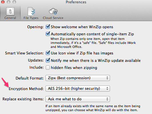 Creating AES256 encrypted Zip Archive Files on a Mac from